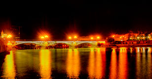 Puente de Triana, in Seville Stock Photography
