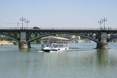 Puente de Triana, Triana Bridge, The Guadalquivir River, Seville, Andalusia, Spain, Europe Royalty Free Stock Photos