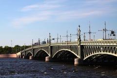 Puente de Troitsky en St Petersburg Fotos de archivo