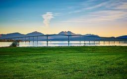Puente de Tromso imagen de archivo