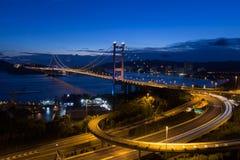 Puente de Tsing mA en Hong-Kong Foto de archivo