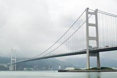 Puente de Tsing mA en niebla Fotografía de archivo libre de regalías