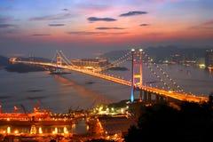 Puente de Tsing mA, Hong-Kong Imágenes de archivo libres de regalías