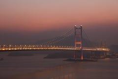Puente de Tsing mA, Hong-Kong imagen de archivo