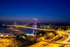 Puente de Tsing mA, Hong-Kong Fotografía de archivo libre de regalías