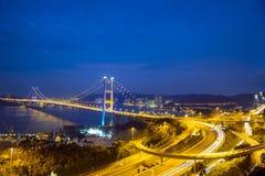 Puente de Tsing mA, Hong-Kong Foto de archivo libre de regalías