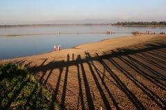 Puente de U Bein Fotos de archivo libres de regalías