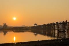 Puente de U Bein Foto de archivo libre de regalías
