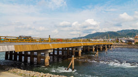 Puente de Uji en Kyoto foto de archivo libre de regalías
