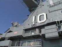 Puente de USS Yorktown imágenes de archivo libres de regalías