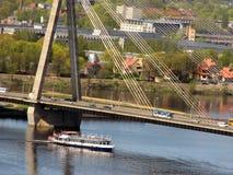 Puente de Vansu en Riga Fotos de archivo libres de regalías