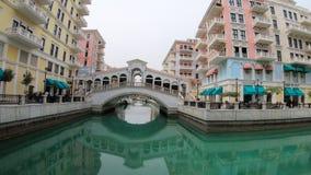 Puente de Venecia Doha almacen de video