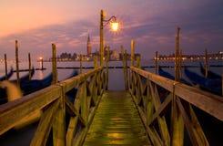 Puente de Venecia en la salida del sol Fotografía de archivo