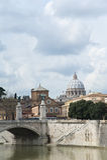 Puente de Victor Emmanuel II en Roma. Imagen de archivo