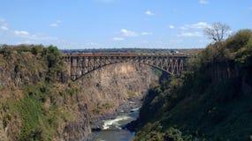 Puente de Victoria Falls de Zambia foto de archivo libre de regalías