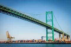 Puente de Vincent Thomas Foto de archivo libre de regalías