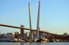 Puente de Vladivostok Fotografía de archivo