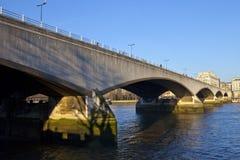 Puente de Waterloo en Londres Imagenes de archivo