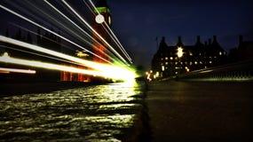 Puente de Westminster del coche Imagen de archivo