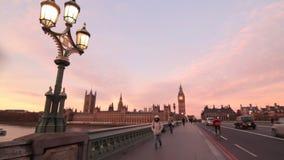 Puente de Westminster en Londres metrajes