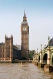 Puente de Westminster y Ben grande. Londres, Inglaterra Foto de archivo libre de regalías