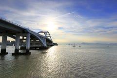 Puente de Wuyuan por la tarde Imagen de archivo libre de regalías