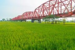 Puente de Xiluo en Yunlin, Taiwán imagen de archivo