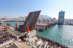 Puente de Yeongdo, Busán, Corea Fotos de archivo libres de regalías