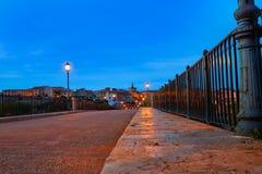 Puente de Zamora Puente de Piedra en Duero Foto de archivo