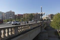 Puente del Ángel Custodio in the city of Valencia. Royalty Free Stock Images