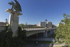 Puente del Ángel Custodio in the city of Valencia. Stock Image