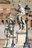 Puente del ángel del santo en Roma Imagenes de archivo