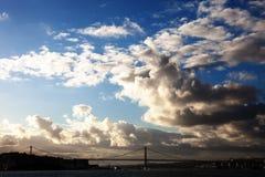 Puente del 25 de abril, Lisboa Fotos de archivo libres de regalías