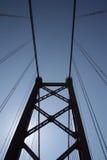 Puente del 25 de abril - río de Tagus Foto de archivo