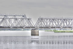 Puente del acero Imágenes de archivo libres de regalías