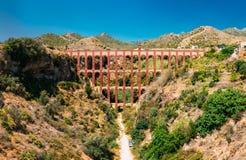 Puente Del Aguila lub Eagle most w Nerja, Malaga Fotografia Stock