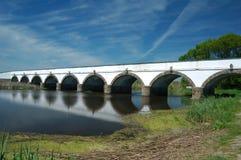 Puente del agujero de Hungría Hortobagy nueve Imágenes de archivo libres de regalías