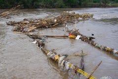 Puente del alambre de los residuos Foto de archivo