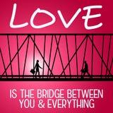 Puente del amor Foto de archivo