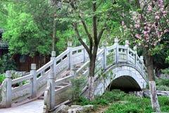 Puente del arco de la piedra del estilo chino Fotos de archivo libres de regalías