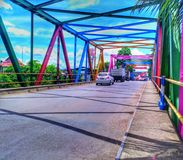 Puente del arco iris fotografía de archivo
