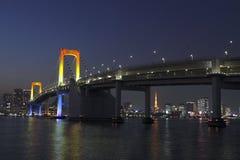 Puente del arco iris en la bahía de Tokio Fotos de archivo libres de regalías