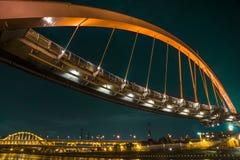 Puente del arco iris en Taipei Fotografía de archivo