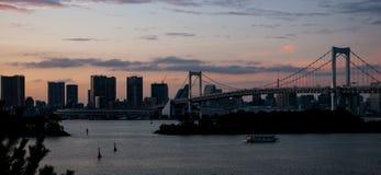 Puente del arco iris en Tokio fotografía de archivo libre de regalías
