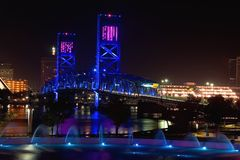 Puente del azul de Jacksonville Imagen de archivo libre de regalías