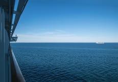 Puente del barco de cruceros de la parte posterior foto de archivo
