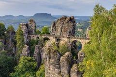 Puente del bastión en Saxonia cerca de Dresden Imágenes de archivo libres de regalías