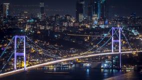 Puente del busporus del enfoque de Estambul Imagen de archivo libre de regalías