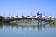 Puente del Cachorro bridge, Guadalquivir River, Seville, Spain Stock Image