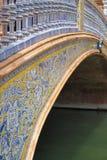 Puente del canal en la plaza de Espana en Sevilla foto de archivo libre de regalías